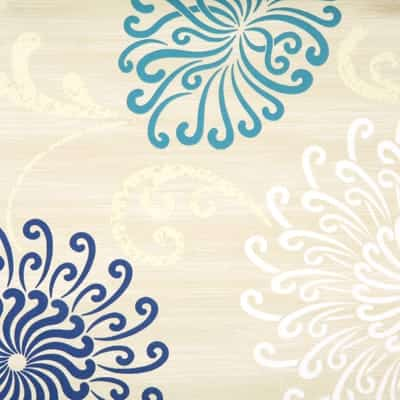 soleil cornflower pvc tablecloth