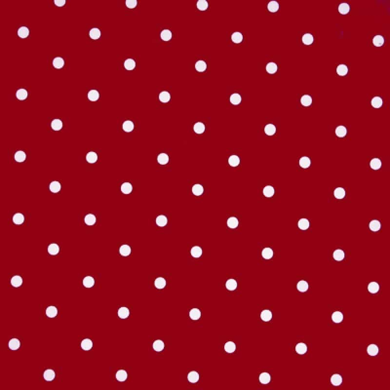 Red polka dot tablcloth