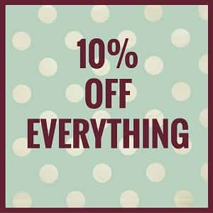 10% OFF EVERY DESIGN