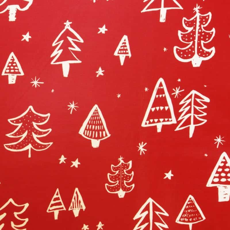Christmas tree red tablecloth