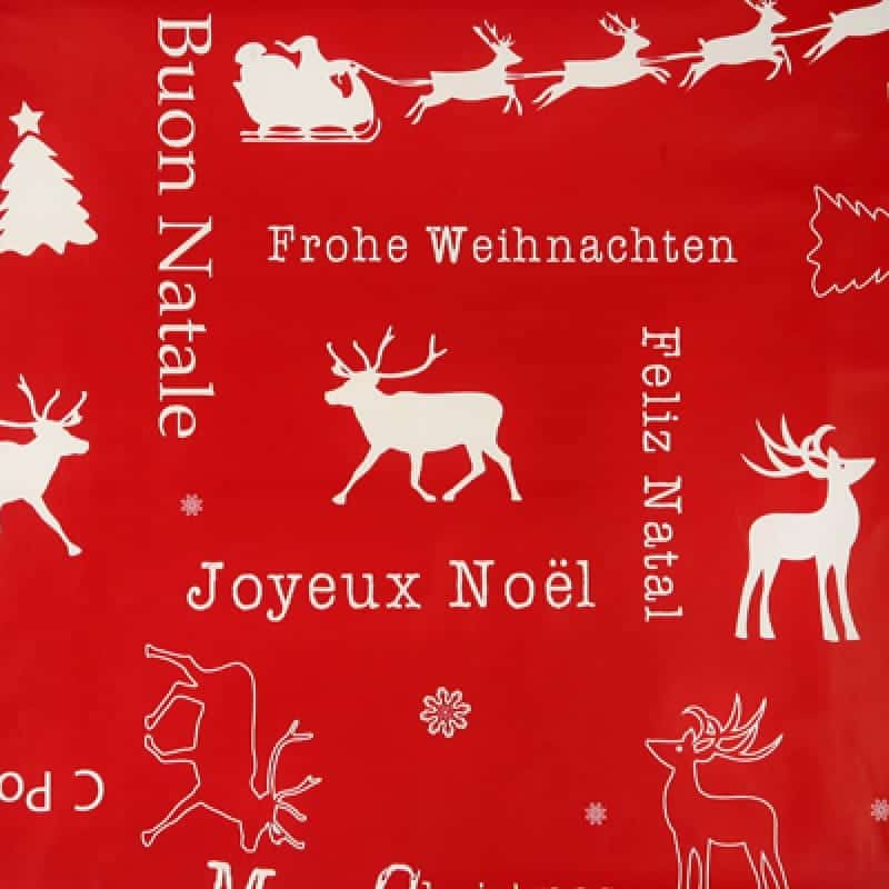 Noel red Christmas tablecloth