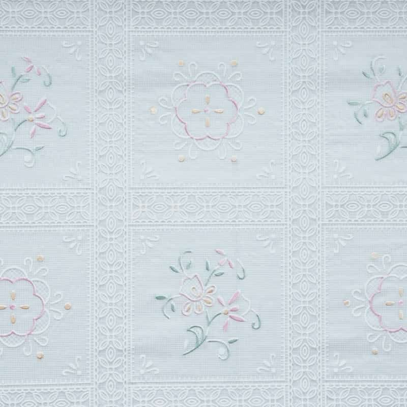 Edwardian lace oilcloth tablecloth