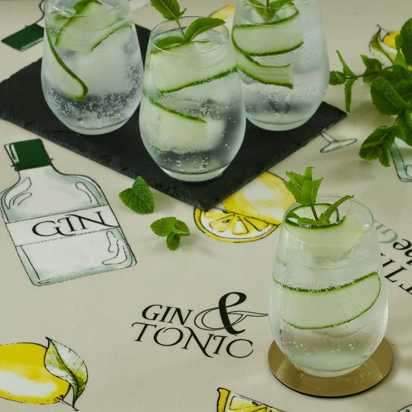 Gin and Tonic tablecloth