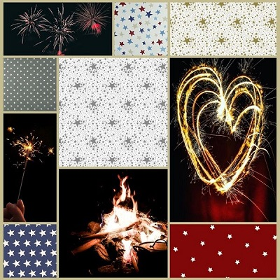 STARS AND SPARKLERS FOR BONFIRE NIGHT