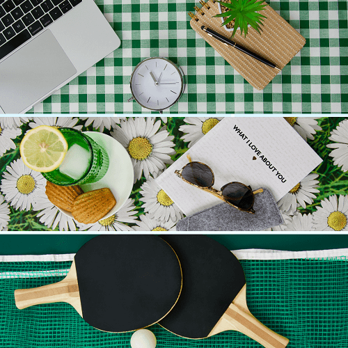 WORK, REST AND PLAY WITH WIPE EASY TABLECLOTHS