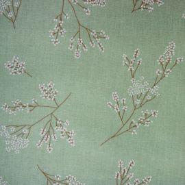 Alberte Green oilcloth tablecloth