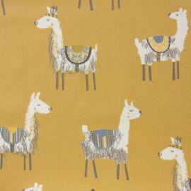 Alpaca Ochre oilcloth tablecloth