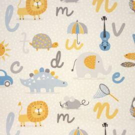 Alphabet oilcloth tablecloth