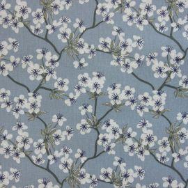 Amalie Dusty Blue oilcloth tablecloth