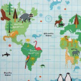 Animal World oilcloth tablecloth