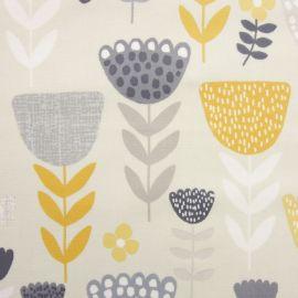 Annika Ochre oilcloth tablecloth