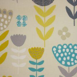 Annika Teal oilcloth tablecloth