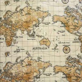 Antique Map oilcloth tablecloth