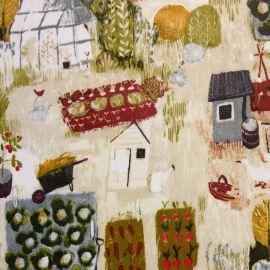 Allotment Autumn oilcloth tablecloth