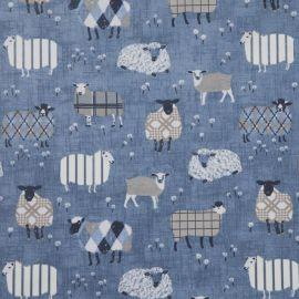 Baa Baa Denim oilcloth tablecloth