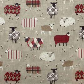 Baa Baa oilcloth tablecloth