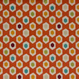 Bahia Mango oilcloth tablecloth
