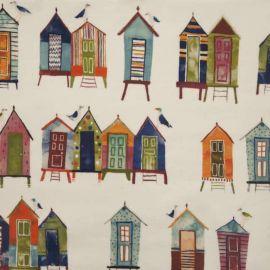 Beach Huts Neopolitan oilcloth tablecloth