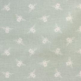Bees Duck Egg oilcloth tablecloth