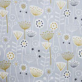 Bergen Grey oilcloth tablecloth