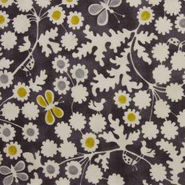 Berwick Charcoal oilcloth tablecloth