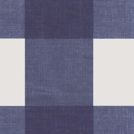 Big Check Navy PVC tablecloth