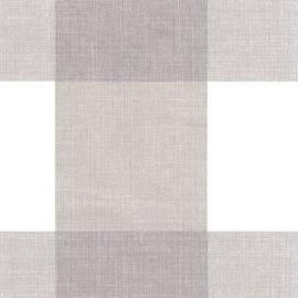 Big Check Grey PVC tablecloth