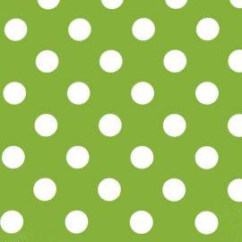 Big Dot Lime PVC tablecloth