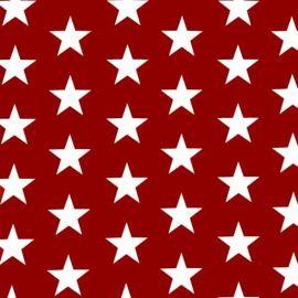 Big Star Red PVC tablecloth