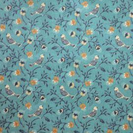 Birdsong Blue oilcloth tablecloth