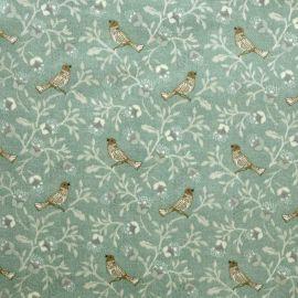 Birdsong Duck Egg oilcloth tablecloth