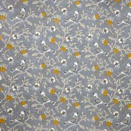 Birdsong Grey oilcloth tablecloth