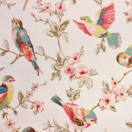 British Birds Pastel oilcloth tablecloth