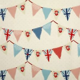 Bunting Blue oilcloth tablecloth