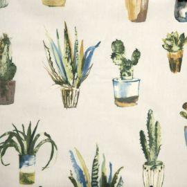Cactus Fennel oilcloth tablecloth