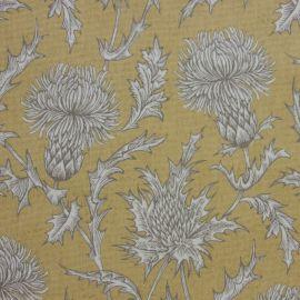 Carlina Mustard oilcloth tablecloth
