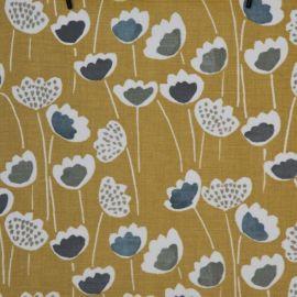 Clara Mustard oilcloth tablecloth