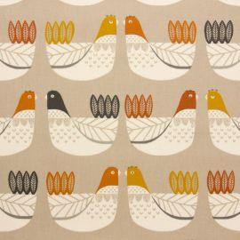 Cluck cluck tangerine oilcloth tablecloth