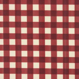 Coniston Red oilcloth tablecloth