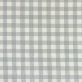 Coniston Blue Grey oilcloth tablecloth