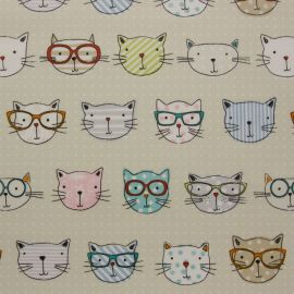 Cool Cats oilcloth tablecloth