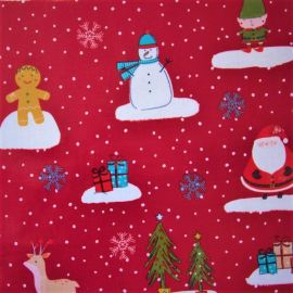Cool Yule Christmas oilcloth tablecloth