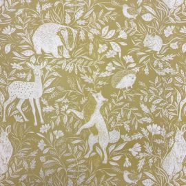 Country Life Ochre oilcloth tablecloth