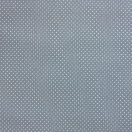 Dainty Dotty Dusty Blue oilcloth tablecloth
