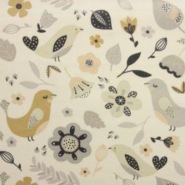 Delarna Natural oilcloth tablecloth