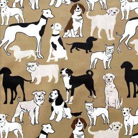 Doggies oilcloth tablecloth