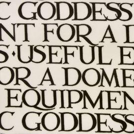 Domestic Goddess oilcloth tablecloth