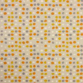 Dot Dot Tangerine oilcloth tablecloth