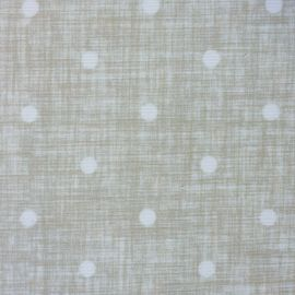 Dotty Linen Taupe oilcloth tablecloth