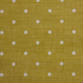 Dotty Linen Ochre oilcloth tablecloth